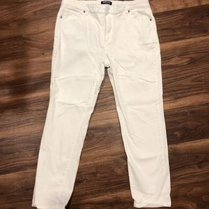 White Skinny Ankle Pants